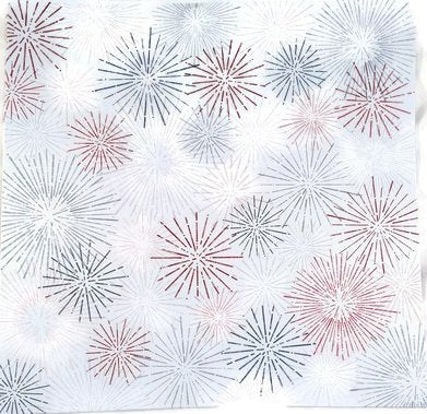 Fireworks 4th of July Patriotic 12x12 Scrapbook Papers - 4pcs