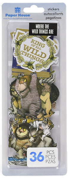 Where the Wild Things Are Die Cut Stickers 36 Piece