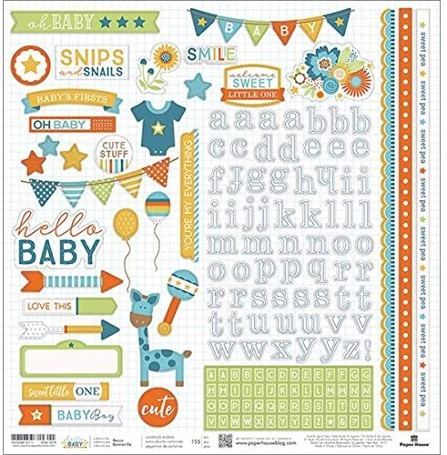Hello Baby boy Stickers by Paper House