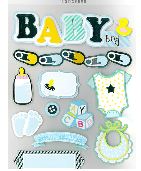 Baby Boy 3 Dimensional STickers by Park Lane