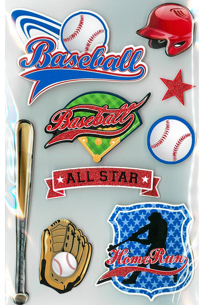 Baseball All Star 3d Stickers by Park Lane