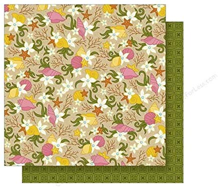 Parrty Me Hearty Tropical Scrapbook Paper