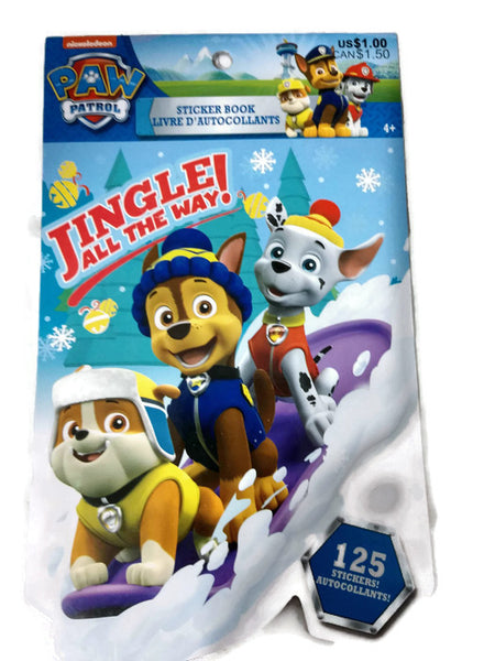 Christmas paw patrol sticker book