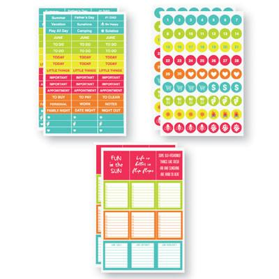 June Planit Stickers by Reminisce Planner Stickers