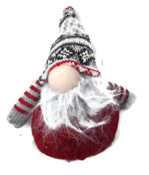 Polar Christmas Gnome Ornament Red