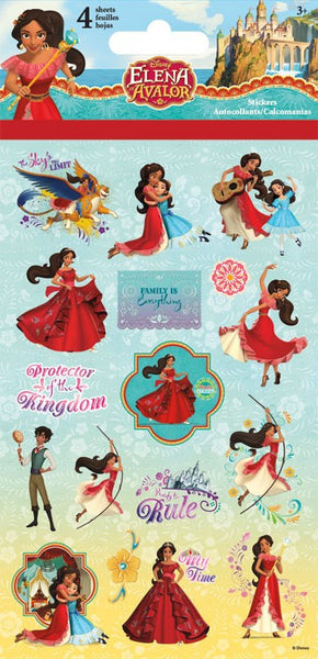 Disneys Princess Elena Stickers Craft Scrapbooking - 4 Sheets
