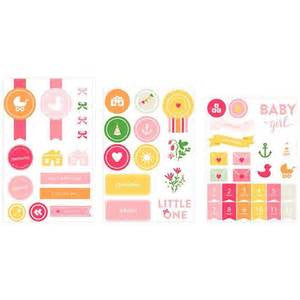 American Crafts Project Life Baby Girl Sticker/Embellishment Pack