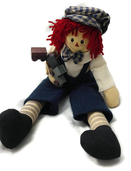 Raggedy Andy Doll with Train