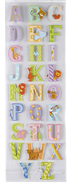 Kids Animal Alphabet Letter Stickers Scrapbook