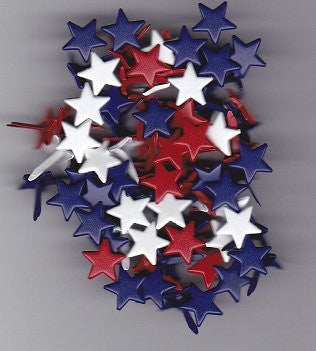 Star Brads Red White Blue - Large Size - 80 Pieces