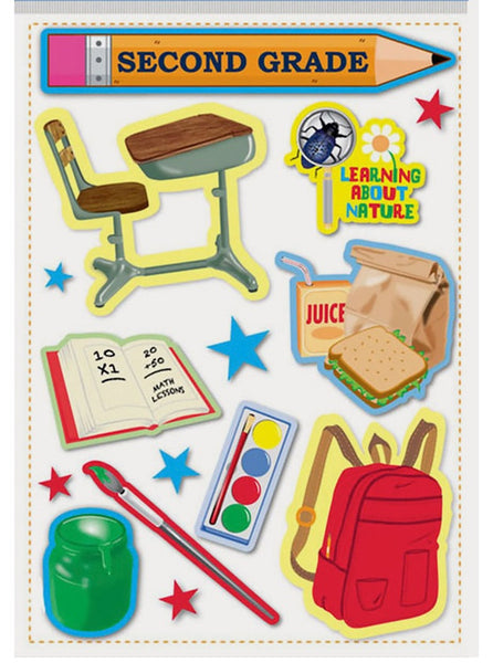 Second Grade Elementary School Scrapbook Stickers
