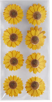 Layered Sunflower 3d Stickers 16 Pieces