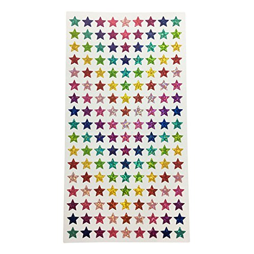 Tiny holographic star stickers 306 pieces