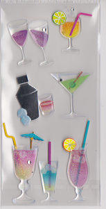 3d Tropical Drink Stickers