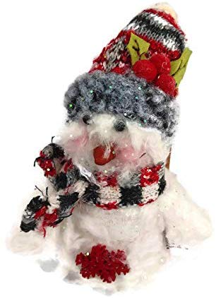 Red Holly Snowman with Stocking Cap
