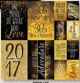 2017 12x12 Scrapbook Stickers Graduation New Year Calendar