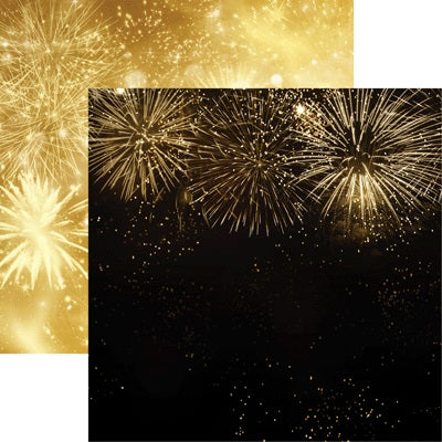 2020 New Years Fireworks Scrapbook Paper by Reminisce