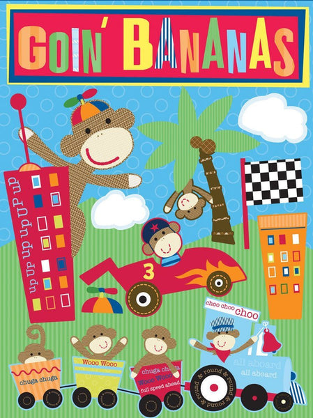Monkey Adventures 3-Dimensional Racing Sticker