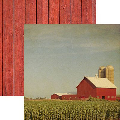 At the Farm 12x12 Scrapbooking Paper - 5 Sheets - by Reminisce