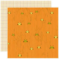 Owl Give a Hoot 12x12 Double Sided Cardstock - Autumn Forest - 5 Sheets by Reminisce