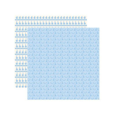 Reminisce Baby Basics - Baby Boy Delivery Scrapbook Paper - 5 Sheets