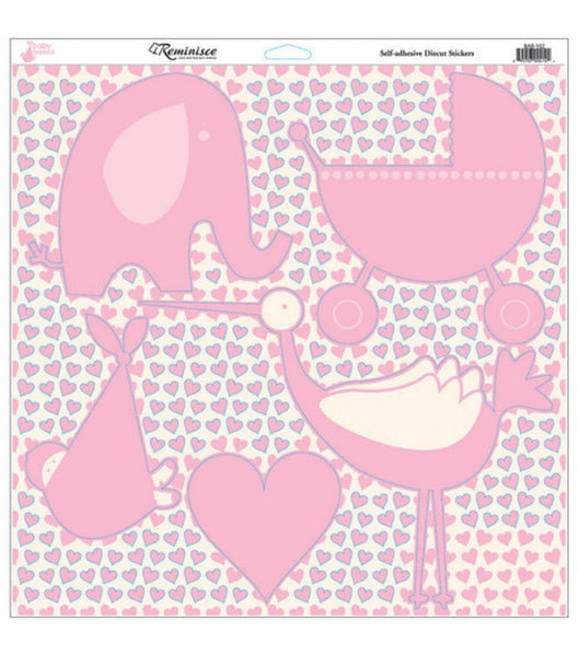 Baby Girl Baby Basics Die Cut Sticker Sheet 12x12 by Reminisce