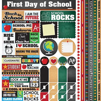 Back to School Stickers 12x12 Size by Designs by Reminisce