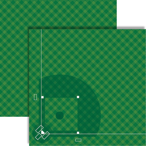 Baseball Diamond Scrapbook Paper by Reminisce