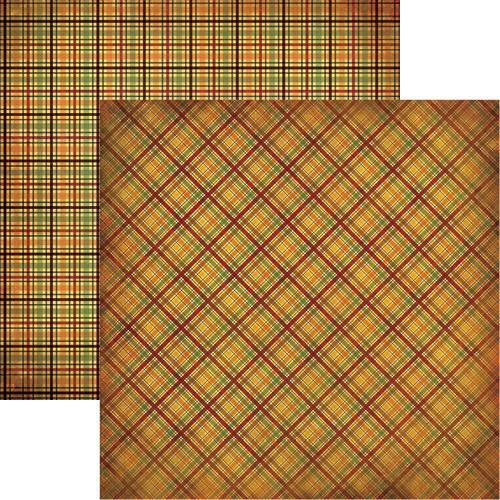 Reminisce Best of Harvest Plaid Scrapbook Paper