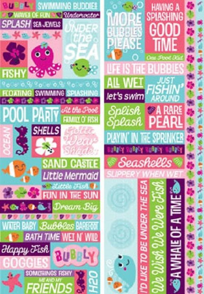 Reminisce Bubbly Beach Stickers