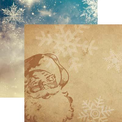 Dear Santa Christmas Spirit Scrapbook Paper
