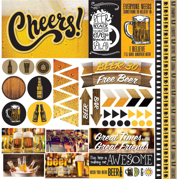 Craft Beer Scrapbook Stickers by Reminisce