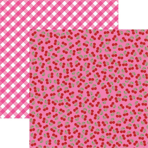 Reminisce Cute Kitty - Cute Cherries 12x12 Scrapbooking Paper - 5 sheets