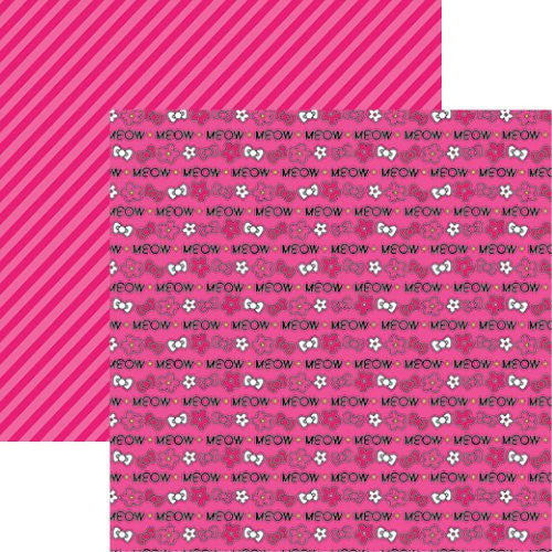 Reminisce Cute Kitty - Cute Kitty Meow 12x12 Scrapbooking Paper - 5 sheets