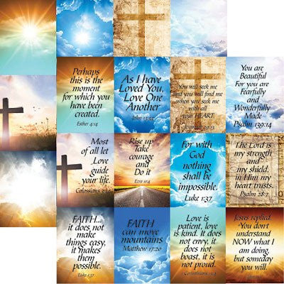 His Word - Devoted Faith 2 - 12X12 Scrapbook Papers by Reminisce - 5 sheets - by Reminisce