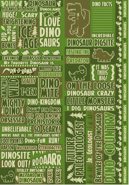 Dinorama Dinosaur Stickers by Reminisce