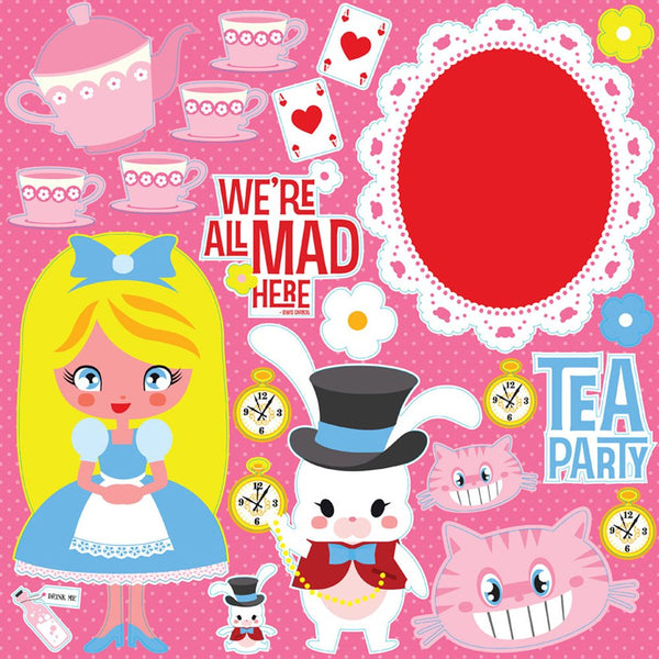 Reminisce Fairy Tales Alice Tea Party Stickers