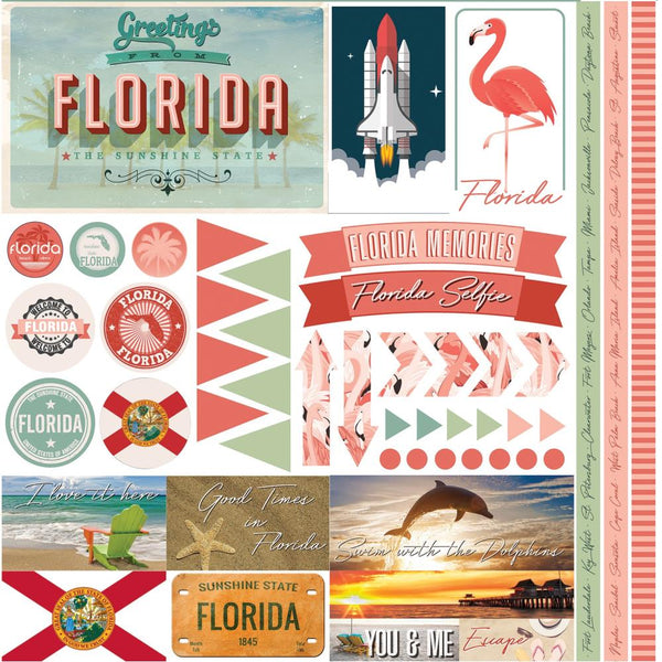 Florida Travel Stickers by Reminisce