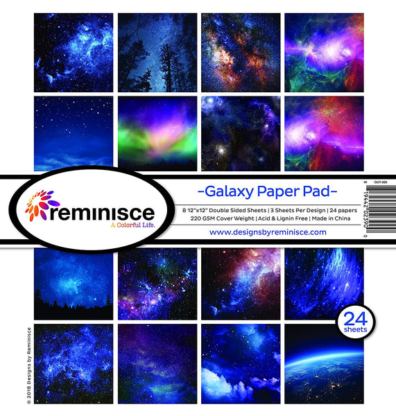 Reminisce Galaxy Space Scrapbook Papers