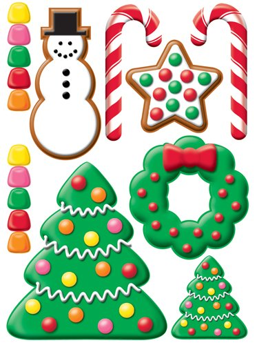 3d Gingerbread Lane Christmas Stickers by Reminisce