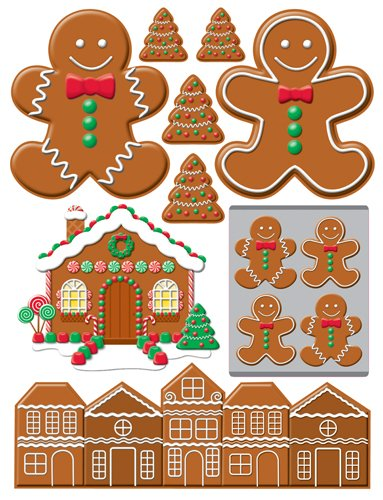 Gingerbread Lane Christmas STickers by Reminisce