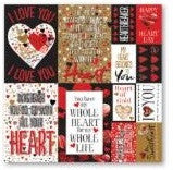 Graffiti Heart Valentine 12x12 Poster Stickers by Reminisce