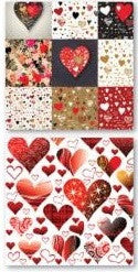 Valentine Graffiti | Hearts - 12x12 Scrapbook Paper - 5 Sheets - by Reminisce