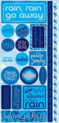 H20 Rain Cardstock Stickers by Reminisce