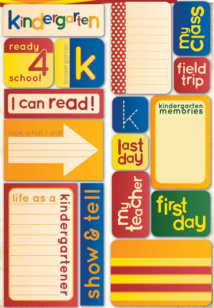 Kindergarten Quote Stickers Making the Grade by Reminisce
