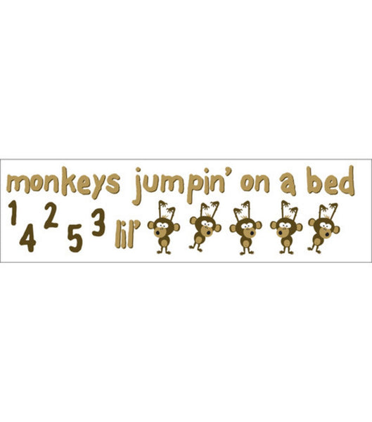 Monkeys Jumping on a Bed Stickers by Reminisce