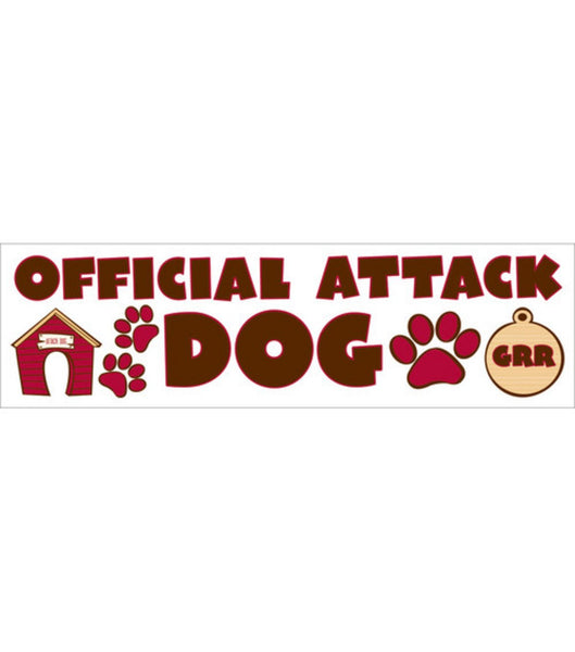 Official Dog Attack Dog Stickers by Reminisce