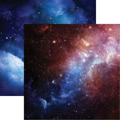 Deep Space - Outer Space - 12x12 Scrapbook Paper by Reminisce - 5 Sheets