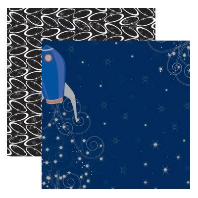Blast Off Scrapbook paper from Real Magic by Reminisce