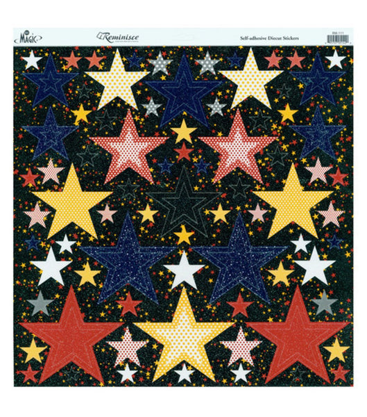 Real Magic Glitter Nested Star Stickers 12 x 12 by Reminisce